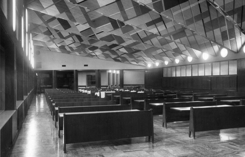 Mensa pensionato Università Bocconi, Milano - 1955